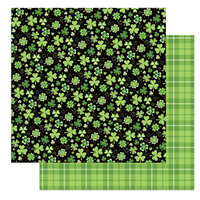 Photo Play Paper - Tulla and Norbert's Lucky Charm Collection - 12 x 12 Double Sided Paper - Four Leaf Clover