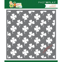Photo Play Paper - Tulla and Norbert's Lucky Charm Collection - 6 x 6 Stencil - Lucky Charm