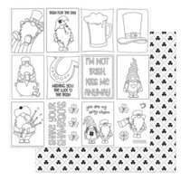 Photo Play Paper - Tulla and Norbert's Lucky Charm Collection - 12 x 12 Double Sided Paper - Color Me Sheet