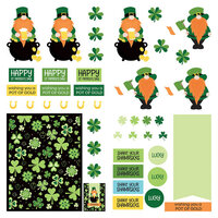 Photo Play Paper - Tulla and Norbert's Lucky Charm Collection - 12 x 12 Paper - Elements