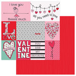 Photo Play Paper - Love Notes Collection - 12 x 12 Double Sided Paper - Love Notes Cards