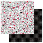 Photo Play Paper - Love Notes Collection - 12 x 12 Double Sided Paper - Doodles
