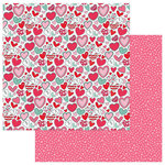 Photo Play Paper - Love Notes Collection - 12 x 12 Double Sided Paper - Heartbreaker