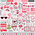 Photo Play Paper - Love Notes Collection - 12 x 12 Cardstock Stickers - Elements