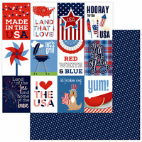 Photo Play Paper - Land of the Free Collection - 12 x 12 Double Sided Paper - Made in the USA