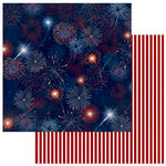 Photo Play Paper - Land of the Free Collection - 12 x 12 Double Sided Paper - Red, White and Blue
