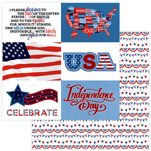 Photo Play Paper - Land of the Free Collection - 12 x 12 Double Sided Paper - Land That I Love