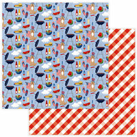 Photo Play Paper - Land of the Free Collection - 12 x 12 Double Sided Paper - BBQ