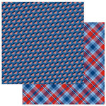 Photo Play Paper - Land of the Free Collection - 12 x 12 Double Sided Paper - Stars and Stripes