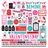 Photo Play Paper - Tulla and Norbert's Love Story Collection - 12 x 12 Cardstock Stickers - Elements