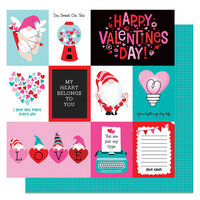 Photo Play Paper - Tulla and Norbert's Love Story Collection - 12 x 12 Double Sided Paper - Love Notes
