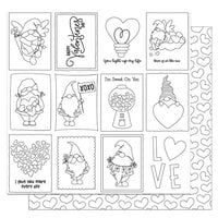 Photo Play Paper - Tulla and Norbert's Love Story Collection - 12 x 12 Double Sided Paper - Color Me Sheet