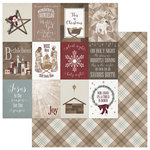 Photo Play Paper - Luke 2 Collection - Christmas - 12 x 12 Double Sided Paper - 3 x 4 Cards