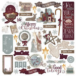 Photo Play Paper - Luke 2 Collection - Christmas - 12 x 12 Cardstock Stickers - Elements