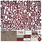 Photo Play Paper - Luke 2 Collection - Christmas - 12 x 12 Cardstock Stickers - Alphabet