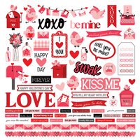 Photo Play Paper - Love Letters Collection - 12 x 12 Cardstock Stickers - Elements