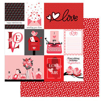 Photo Play Paper - Love Letters Collection - 12 x 12 Double Sided Paper - Love Is In The Air