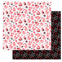 Photo Play Paper - Love Letters Collection - 12 x 12 Double Sided Paper - Love Birds