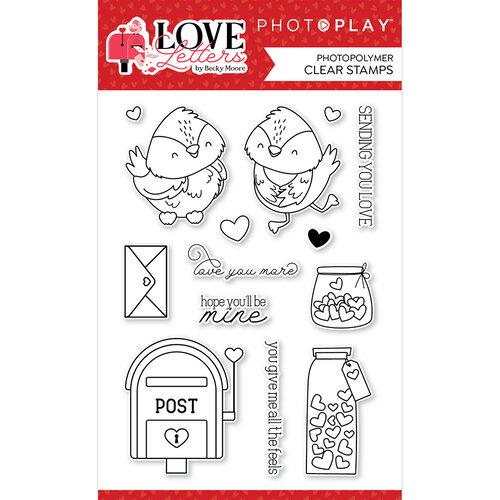 Photo Play Paper - Love Letters Collection - Clear Photopolymer Stamps