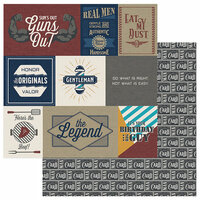 Photo Play Paper - Man Card Collection - 12 x 12 Double Sided Paper - Real Men Cards