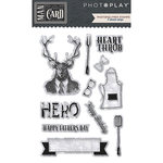 Photo Play Paper - Man Card Collection - Clear Acrylic Stamps - Shapes
