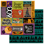 Photo Play Paper - Matilda and Godfrey Collection - Halloween - 12 x 12 Double Sided Paper - Trick or Treat
