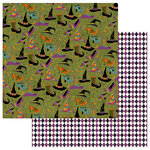 Photo Play Paper - Matilda and Godfrey Collection - Halloween - 12 x 12 Double Sided Paper - Cast a Spell
