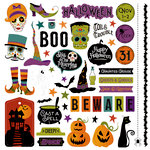 Photo Play Paper - Matilda and Godfrey Collection - Halloween - 12 x 12 Cardstock Stickers - Elements