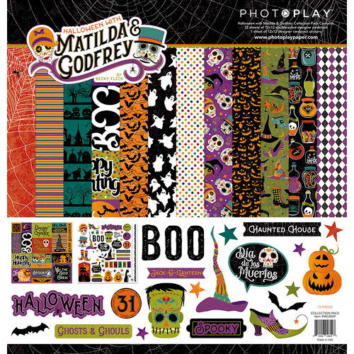 Photo Play Paper - Matilda and Godfrey Collection - Halloween - 12 x 12 Collection Pack