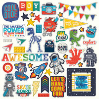 Photo Play Paper - My Imagination Collection - 12 x 12 Cardstock Stickers - Elements