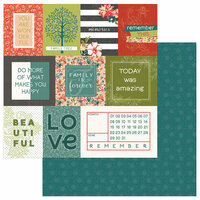 Photo Play Paper - Memory Lane Collection - 12 x 12 Double Sided Paper - Memories