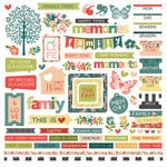 Photo Play Paper - Memory Lane Collection - 12 x 12 Cardstock Stickers - Elements