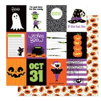 Photo Play Paper - Halloween - Monster Mash Collection - 12 x 12 Double Sided Paper - Fangtastic