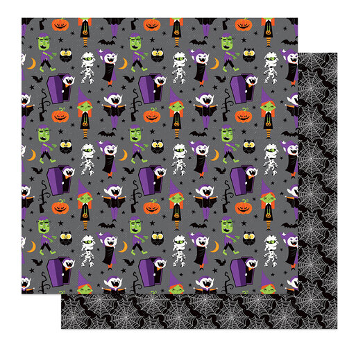 Photo Play Paper - Halloween - Monster Mash Collection - 12 x 12 Double Sided Paper - Costume Party
