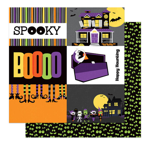 Photo Play Paper - Halloween - Monster Mash Collection - 12 x 12 Double Sided Paper - Spooky