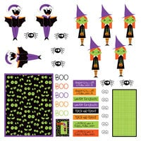 Photo Play Paper - Halloween - Monster Mash Collection - 12 x 12 Single Sided Paper - Pre-Colored Die Cut Outs