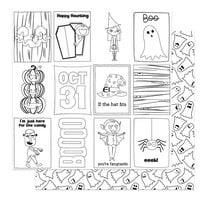 Photo Play Paper - Halloween - Monster Mash Collection - 12 x 12 Double Sided Paper - Color Me