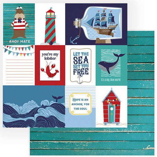 Photo Play Paper - Monterey Bay Collection - 12 x 12 Double Sided Paper - Set Sail
