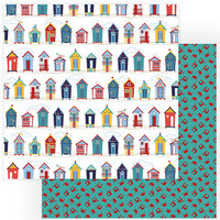 Photo Play Paper - Monterey Bay Collection - 12 x 12 Double Sided Paper - Beach Huts