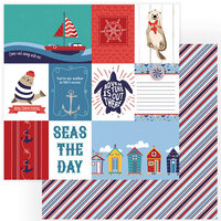Photo Play Paper - Monterey Bay Collection - 12 x 12 Double Sided Paper - Seas The Day