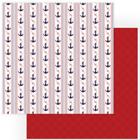 Photo Play Paper - Monterey Bay Collection - 12 x 12 Double Sided Paper - Anchors