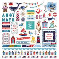 Photo Play Paper - Monterey Bay Collection - 12 x 12 Cardstock Stickers - Elements