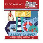 Photo Play Paper - Monterey Bay Collection - Die Cut Cardstock Pieces - Ephemera