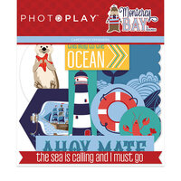 Photo Play Paper - Monterey Bay Collection - Die Cut Cardstock Pieces - Ephemera