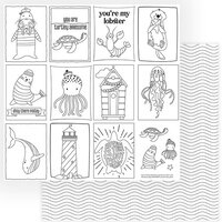 Photo Play Paper - Monterey Bay Collection - 12 x 12 Double Sided Paper - Color Me Sheet