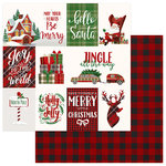 Photo Play Paper - Mad 4 Plaid Christmas Collection - 12 x 12 Double Sided Paper - Jingle