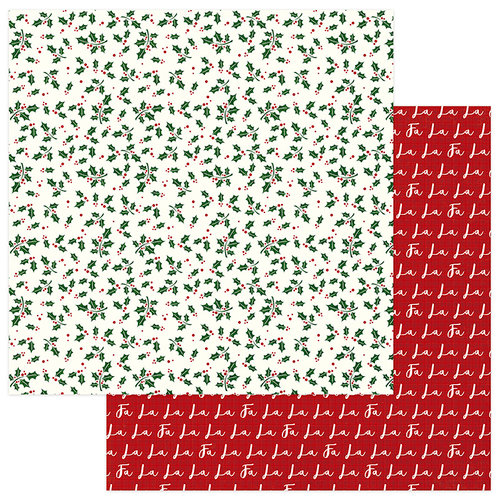Photo Play Paper - Mad 4 Plaid Christmas Collection - 12 x 12 Double Sided Paper - Holly