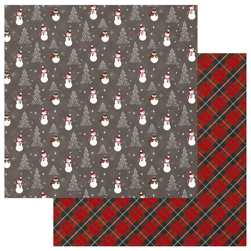 Photo Play Paper - Mad 4 Plaid Christmas Collection - 12 x 12 Double Sided Paper - Frosty