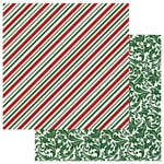 Photo Play Paper - Mad 4 Plaid Christmas Collection - 12 x 12 Double Sided Paper - Candy Cane