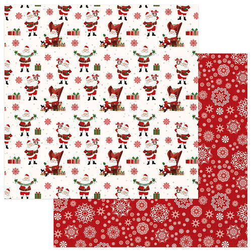 Photo Play Paper - Mad 4 Plaid Christmas Collection - 12 x 12 Double Sided Paper - St Nick